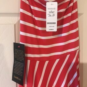 bebe Dresses - Bebe Hi/low strapless sundress